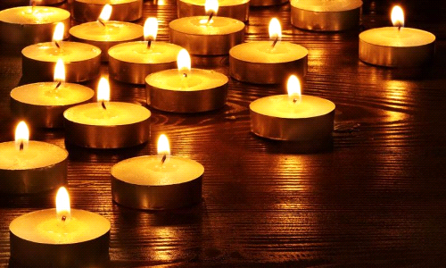 All Souls Day Memorial Candles
